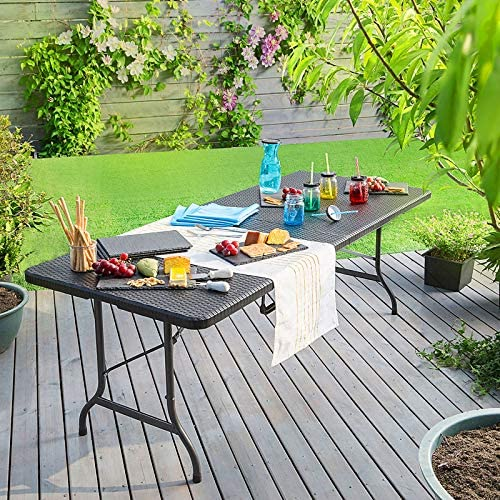 Table de jardin pliante Casaria