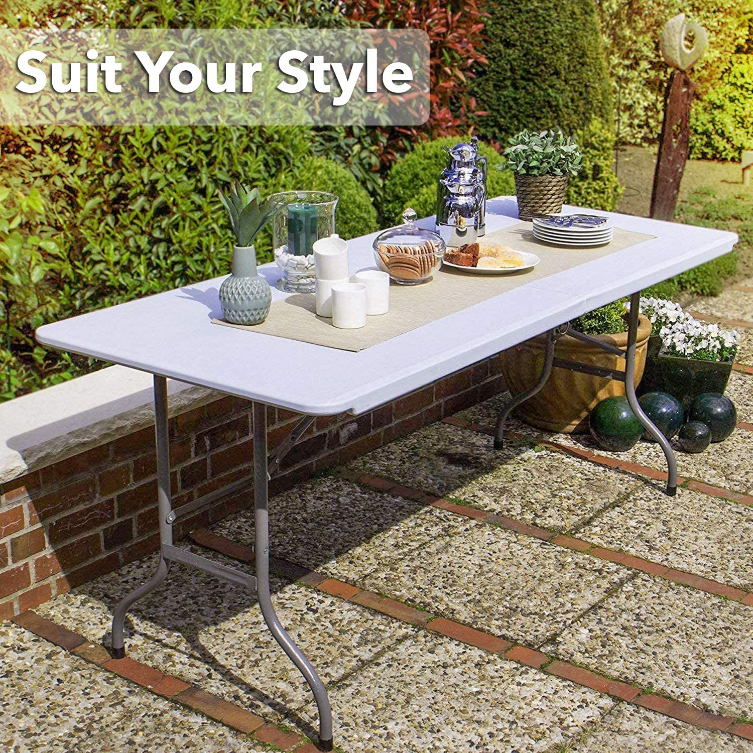 Table de jardin pliante en plastique MaxxGarden